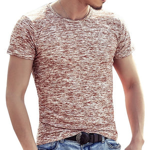 Fashion Men T Shirts Summer Sports Running Top Tees Mens Clothing Short Sleeve Casual O Neck cotton Fitness Tshirt Sportwear