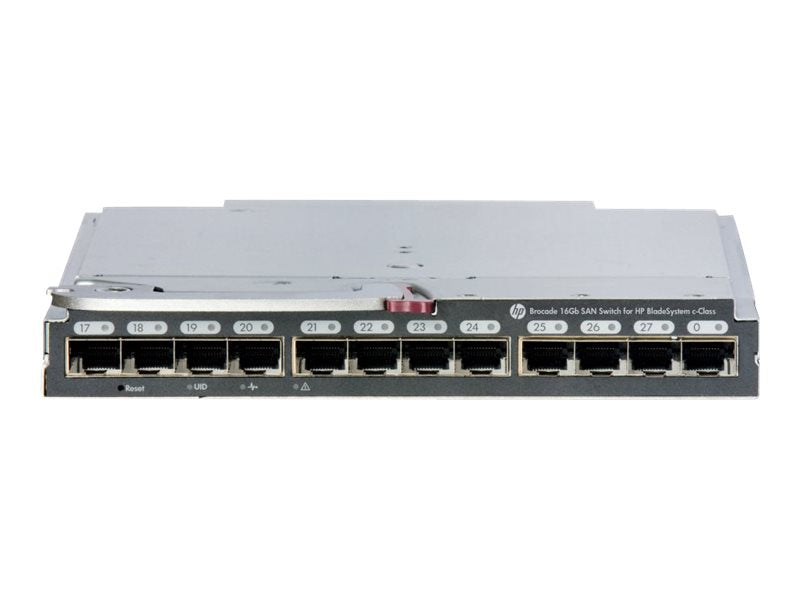 Brocade 16Gb/16 SAN Switch for HP BladeSystem c-Class - Conmutador - Gestionado - 16 x 16Gb Fibre Channel - m—dulo de conexi—n