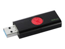 Kingston DataTraveler 106 - Unidad flash USB - 32 GB - USB 3.1 Gen 1 - negro sobre rojo