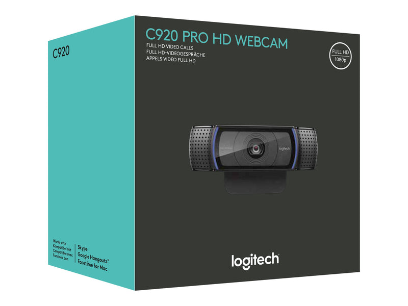 Logitech HD Pro Webcam C920 - C‡mara web - color - 1920 x 1080 - audio - USB 2.0 - H.264