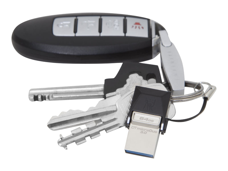 Kingston DataTraveler microDuo - Unidad flash USB - 64 GB - USB 3.0