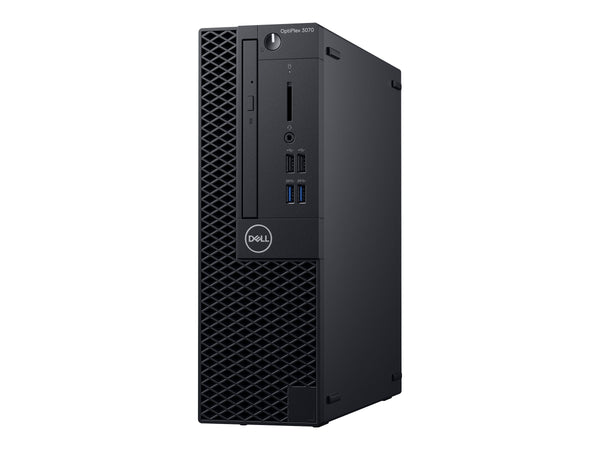 Dell OptiPlex 3070 - MLK - SFF - 1 x Core i3 9100 / 3.6 GHz - RAM 4 GB - HDD 1 TB - grabadora de DVD - UHD Graphics 630 - GigE - Win 10 Pro 64 bits - monitor: ninguno - BTS - con 1 Year Hardware Service with Onsite/In-Home Service After Remote Diagnosis