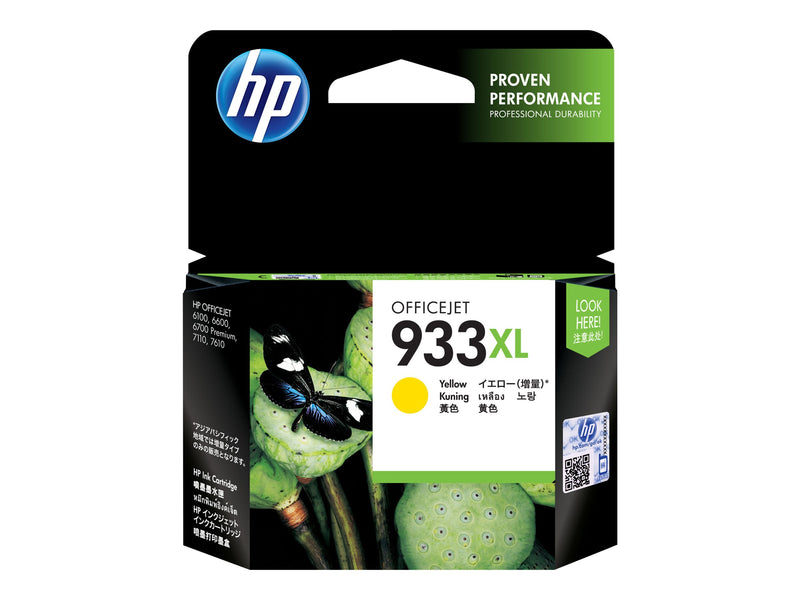 HP 933XL - 8.5 ml - Alto rendimiento - amarillo - original - cartucho de tinta - para Officejet 6100, 6600 H711a, 6700, 7110, 7510, 7610, 7612