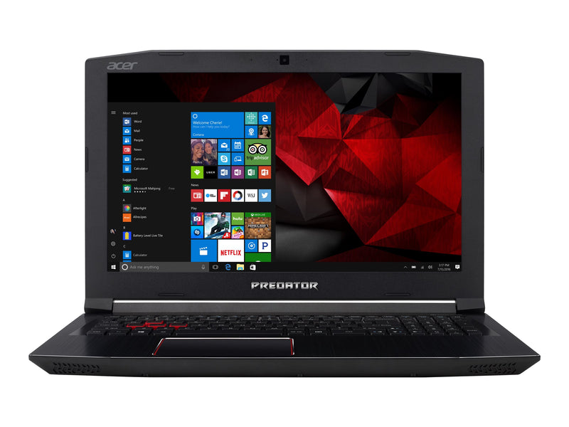 "Acer Helios - Notebook - 15.6"" - Intel Core i5 I5-7300HQ GAMING - 12 GB - 1.128 TB Hybrid Drive - Espa–ol - Negro/rojo"