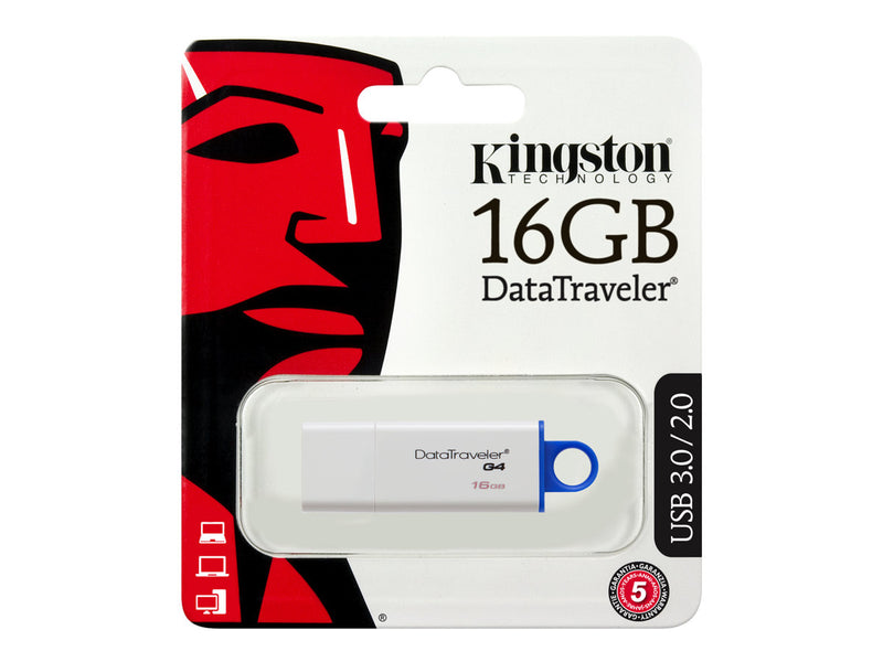 Kingston DataTraveler G4 - Unidad flash USB - 16 GB - USB 3.0 - azul