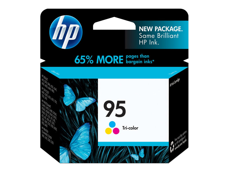 HP 95 - 7 ml - color (cian, magenta, amarillo) - original - cartucho de tinta - para Officejet 100, 150, 63XX, 72XX, H470; Photosmart 25XX, 26XX, D5065, D5155, D5156; psc 23XX