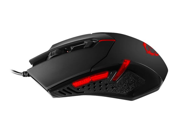 MSI Interceptor DS B1 Gaming - Rat—n - —ptico - 6 botones - cableado - USB - negro