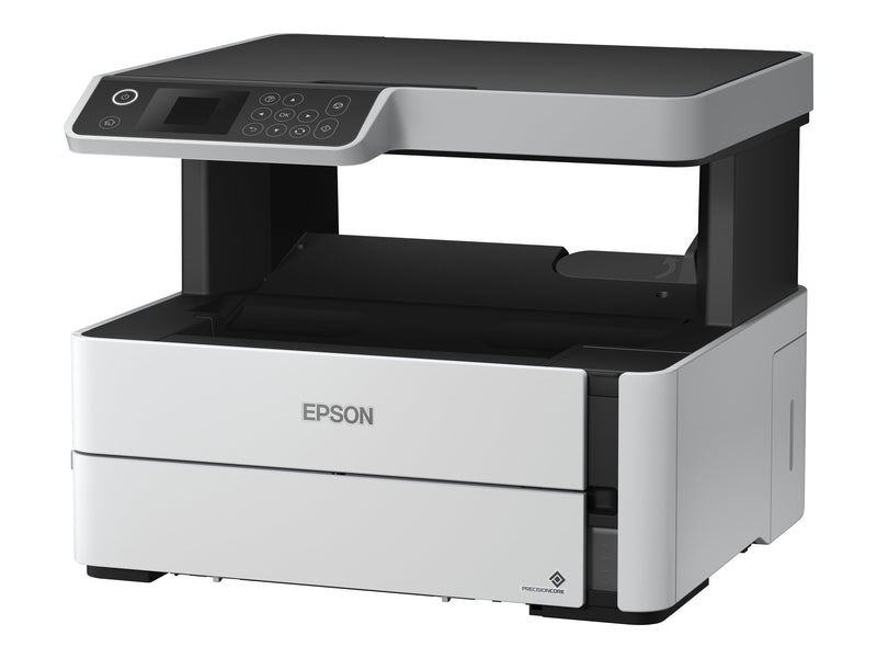 Epson EcoTank M2140 - Workgroup printer - Copier / Printer / Scanner - Ink-jet - Monochrome - USB 2.0 - A6 (105 x 148 mm) / A4 (210 x 297 mm) / ANSI A (Letter) (216 x 279 mm) / Folio (216 x 330 mm) / 216 x 356 mm - Automatic Duplexing