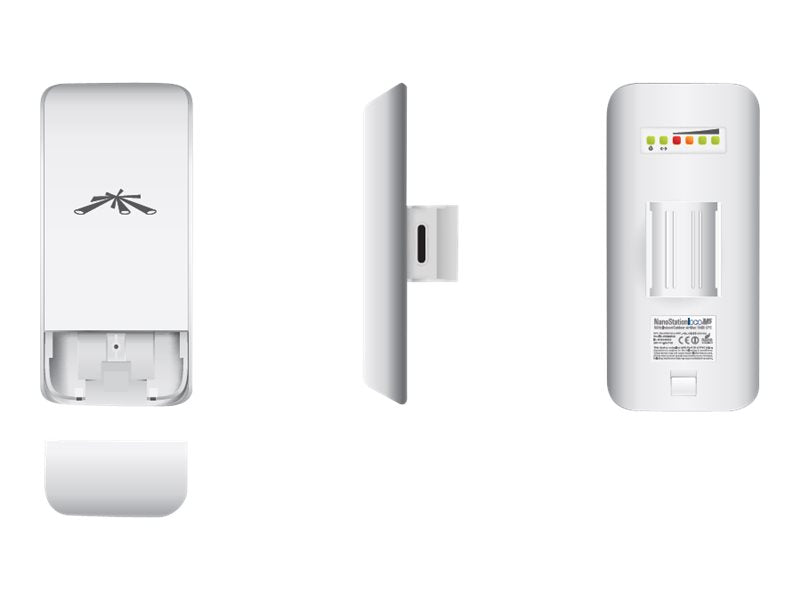 Ubiquiti NanoStation loco M2 - Punto de acceso inal‡mbrico - AirMax - AirMax - 2.4 GHz - Inyector POE incluido