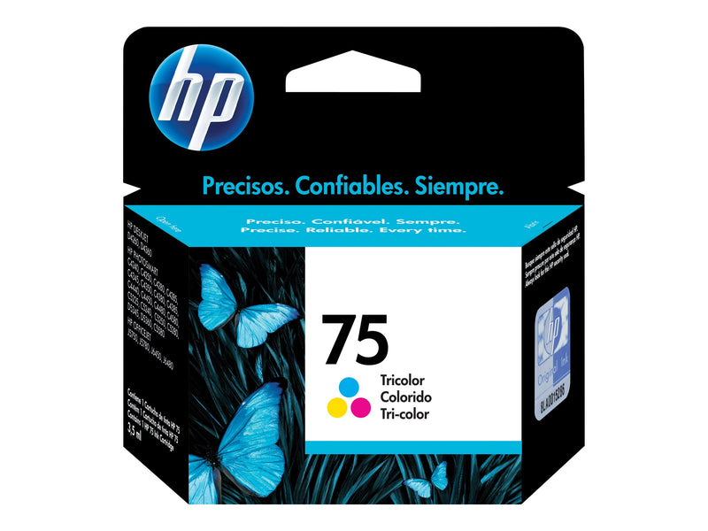 HP 75 - 3.5 ml - color (cian, magenta, amarillo) - original - cartucho de tinta - para Deskjet D4268; Officejet J6415; Photosmart C4450, C4470, C4472, C4524, C5275, C5288, C5570