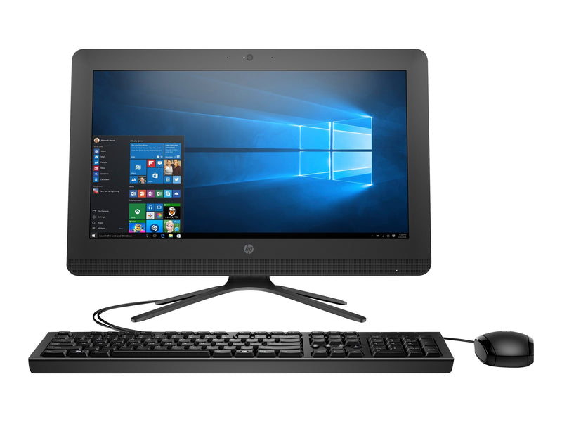 "HP 20-c217la - Todo en uno - 1 x Celeron J3060 / 1.6 GHz - RAM 4 GB - HDD 500 GB - HD Graphics - GigE - WLAN: 802.11b/g/n, Bluetooth 4.0 - Win 10 Home 64 bit - monitor: LED 19.5"" 1600 x 900 (HD+) - teclado: LatinoamŽrica"