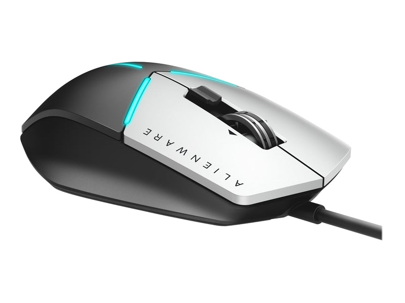 Alienware Advanced Gaming Mouse AW558 - Rat—n - —ptico - 9 botones - cableado - USB - negro, plata - para G3; G5; G7; Inspiron 15 Gaming 7577, 5675, 5676, 5680