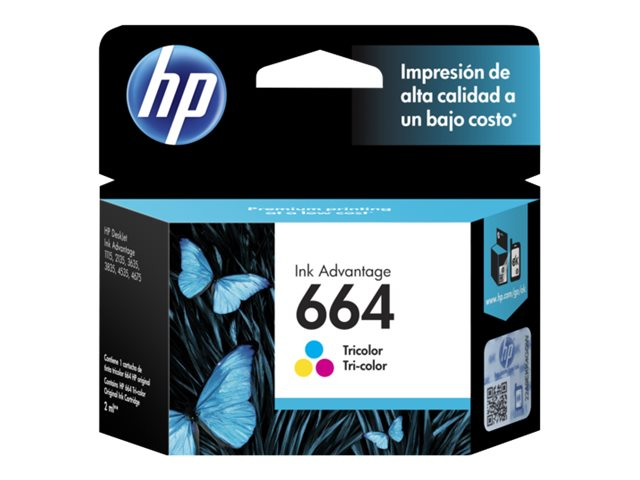 HP - Ink cartridge - Tricolor - 664