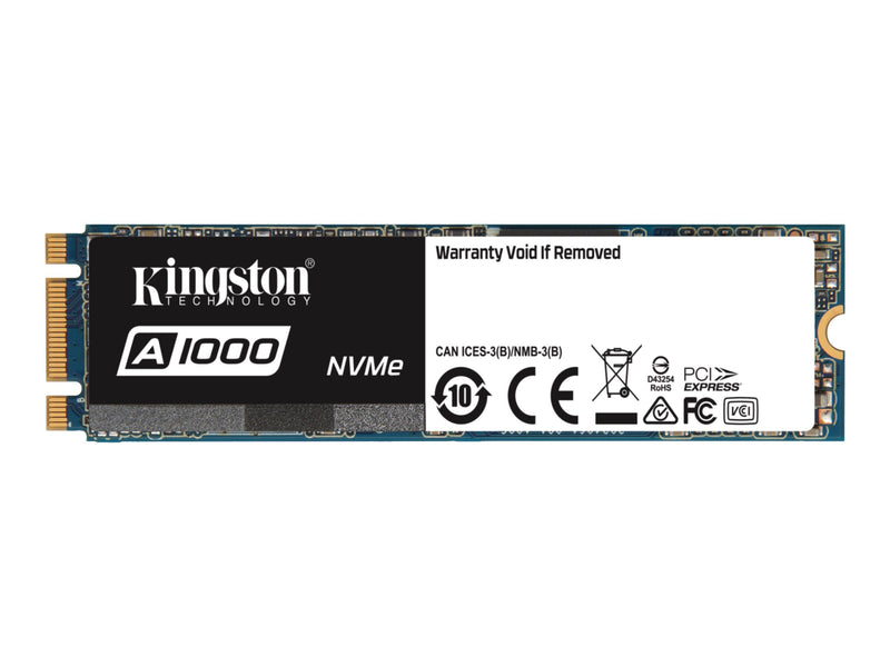 Kingston A1000 - Unidad en estado s—lido - 960 GB - interno - M.2 2280 - PCI Express 3.0 x2 (NVMe)