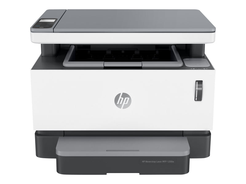 HP Neverstop Laser MFP 1200w - Impresora multifunci—n - B/N - laser - 215.9 x 297 mm (original) - Legal (material) - hasta 21 ppm (copiando) - hasta 21 ppm (impresi—n) - 150 hojas - USB 2.0, Wi-Fi(n)