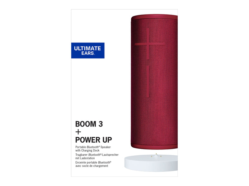 Ultimate Ears BOOM 3 - Altavoz - para uso port‡til - inal‡mbrico - Bluetooth - rojo crepúsculo