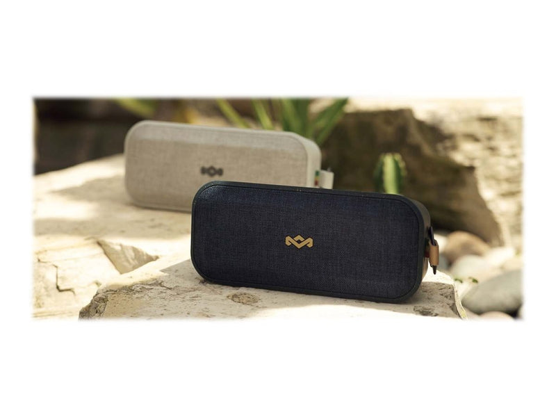House of Marley No Bounds XL - Altavoz - para uso port‡til - inal‡mbrico - Bluetooth - 20 vatios - 2 v'as - negro exclusivo