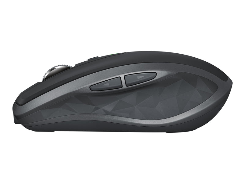 Logitech MX Anywhere 2S - Rat—n - laser - 7 botones - inal‡mbrico - 2.4 GHz - receptor inal‡mbrico USB - grafito