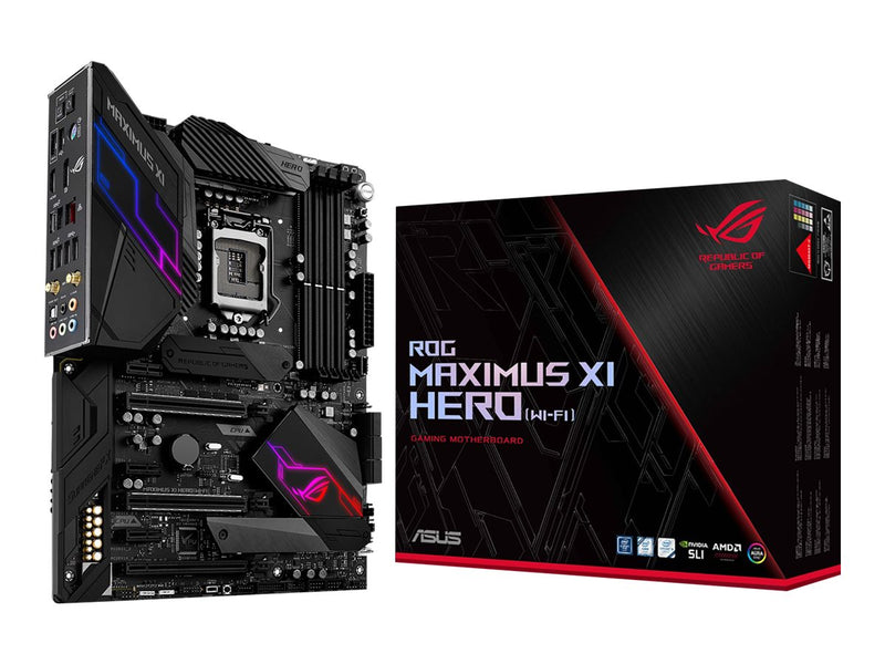 ASUS - ROG Maximus XI Hero (Wi-Fi) - Motherboard - ATX - LGA1151 Socket - Intel Z390 - para Core i3 / para Core i5 / para Core i7 - Graphics adapter (CPU required) - Sound card - ASUS MB MAximus XI