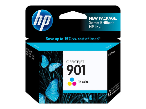 HP 901 - 9 ml - color (cian, magenta, amarillo) - original - cartucho de tinta - para Officejet 4500, 4500 G510, J4524, J4525, J4535, J4540, J4550, J4580, J4585, J4660, J4680