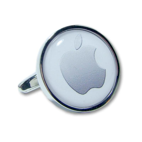 Manchetknopen Apple Zilver