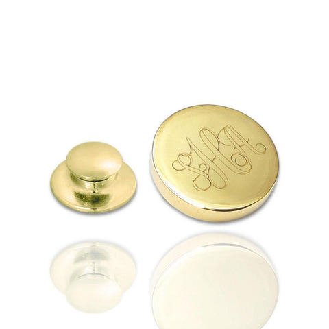 Revers Pin Glans Rond met monogram