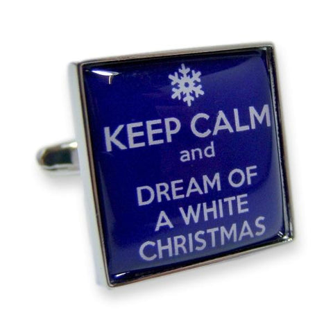 Manchetknopen Keep Calm and Dream of a White Christmas