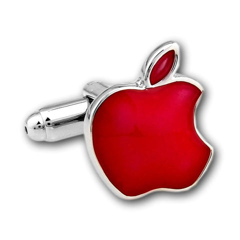 Manchetknopen Apple Rood