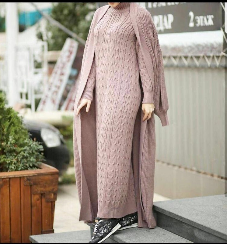 3 Piece Sweater Dress and Juckert. Women's sweater dresses, Women's women knitted sweater dresses, winter sweater dress women knitted