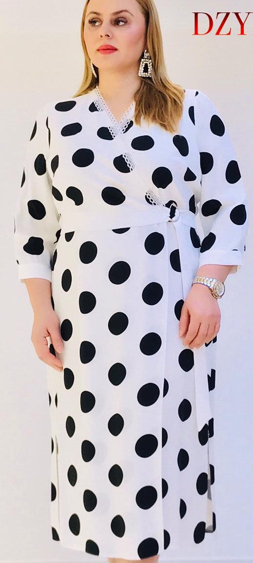 Miland Dotted Print Dress
