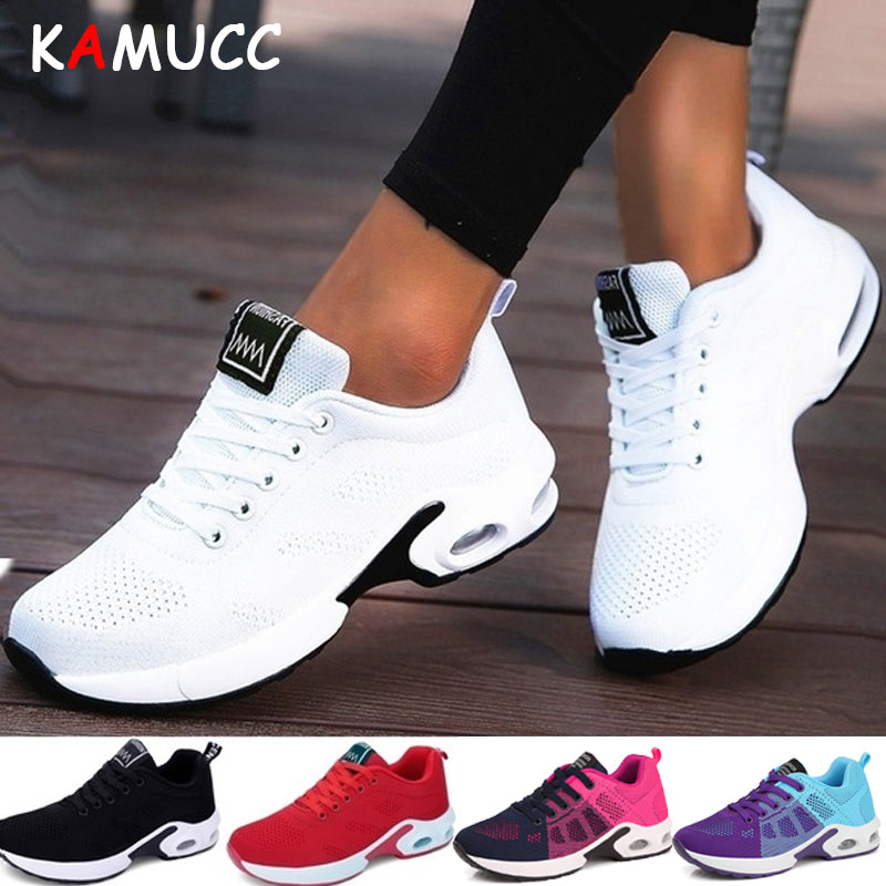 KAMUCC New Platform Ladies Sneakers Breathable Women Casual Shoes Woman Fashion Height Increasing Shoes Plus Size 35-42