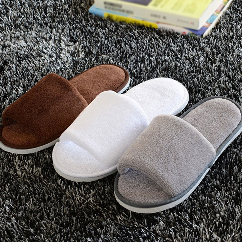Women Men Home Anti-slip Shoes Soft Winter Warm Sandal House Indoor Slippers
