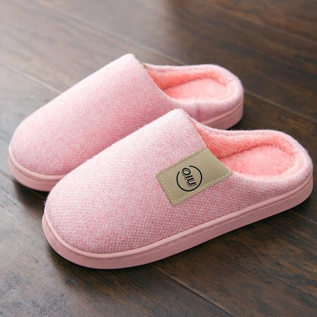 Classic Women Winter Warm Fur Slippers Men Women Boys Girls Slippers House Shoes Flat Heel Home Indoor Bedroom Zapatilla Mujer