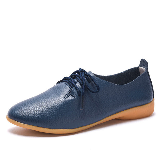 Women flats 2019 single oxford shoes fall women shoes flats leather mom solid color casual loafers shoes woman tenis feminino