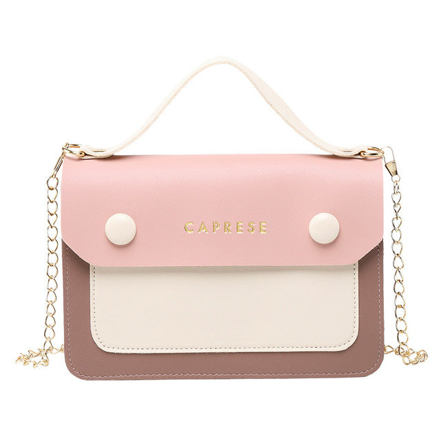 Fashion Women's Crossbody Bags New Stylish Contrast Color Shoulder Handbags Casual Messenger Satchels Shopping Purse for Ladies