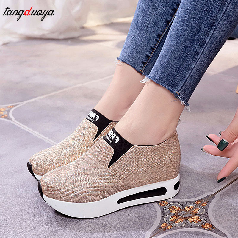platform shoes Flat Shoes women Slip On Casual Platform Shoes women winter women's casual shoes leather shoes slip on sneakers