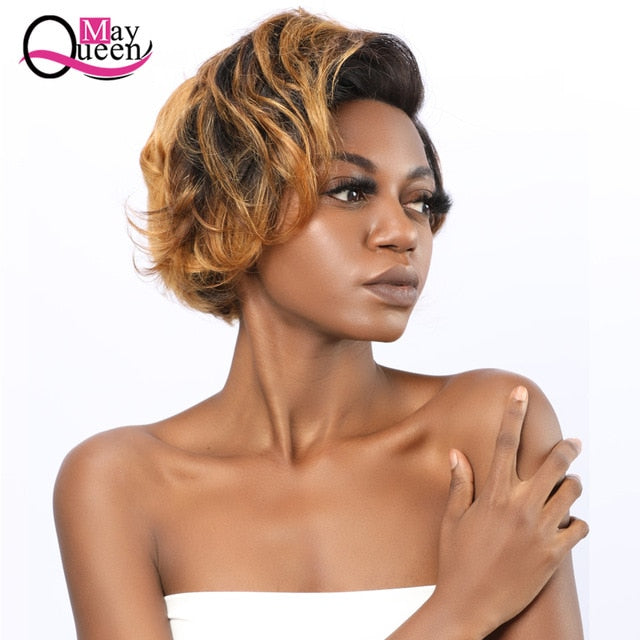Pixie Cut Wig 13x4 Short Lace Front Human Wigs Pre Plucked With Baby Hair Lace Frontal Brazilian Hair