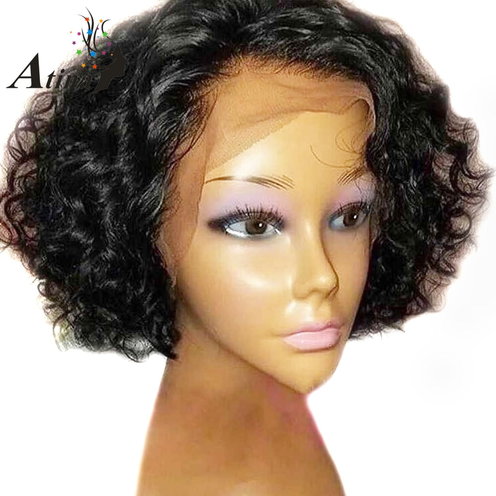 Pixie Cut Wig Short Curly Human Hair With Baby Hair Pre Plucked Glueless Bob Lace Front Natural Wig