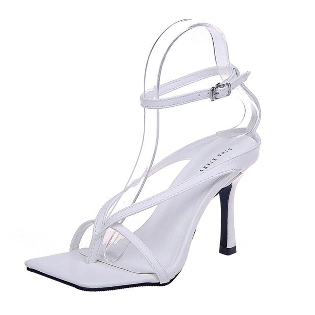 Women Pumps Summer Stiletto Ankle Strap Shoes Rome Sandals Woman Sexy Open Toe Party Sandals Fashion High Heel Ladies Shoes 2020