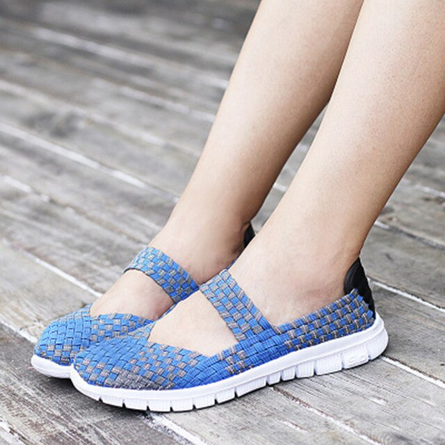 Fashion Women Sneakers 2019 Spring Summer Walking Shoes Women Woven Shoes Casual Shoes Breathable Tenis Feminino Trainers