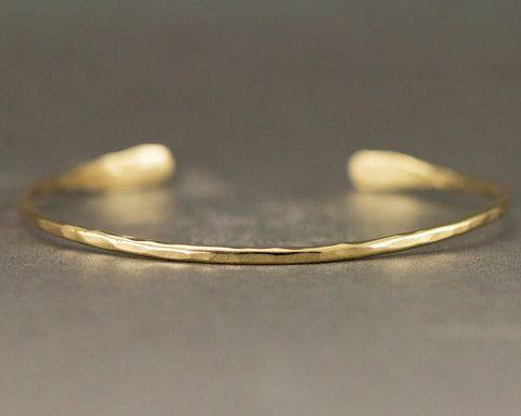 18k Gold Cuff - Solid 18k Gold Cuff - Choose 1.6mm or 2mm  Width
