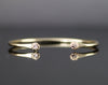 14k Gold Diamond Cuff