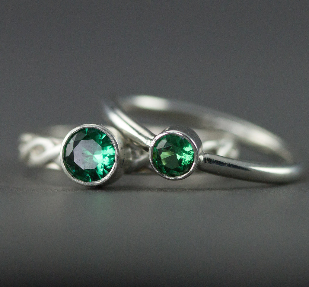 Emerald Stacking Rings