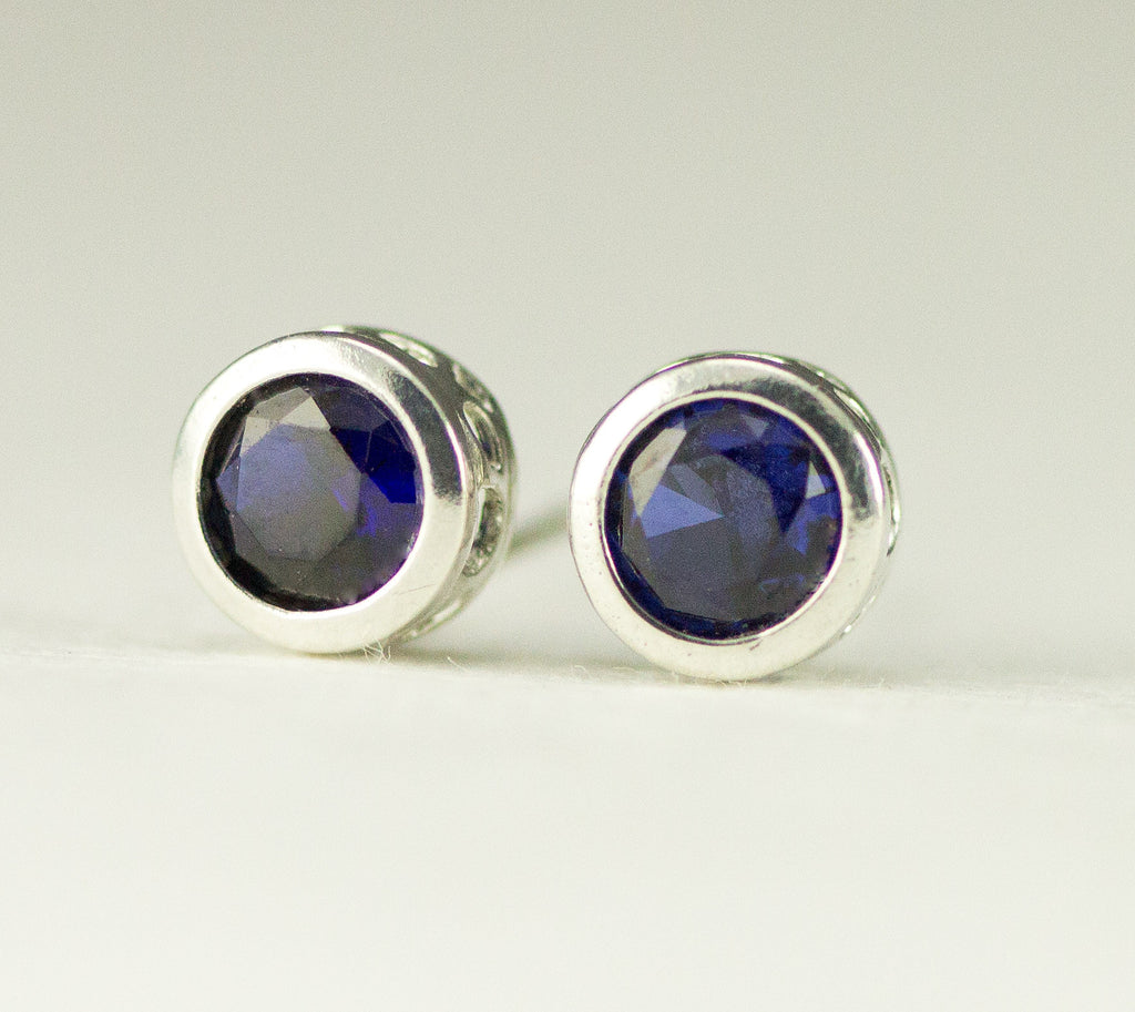 Sapphire Sterling Studs