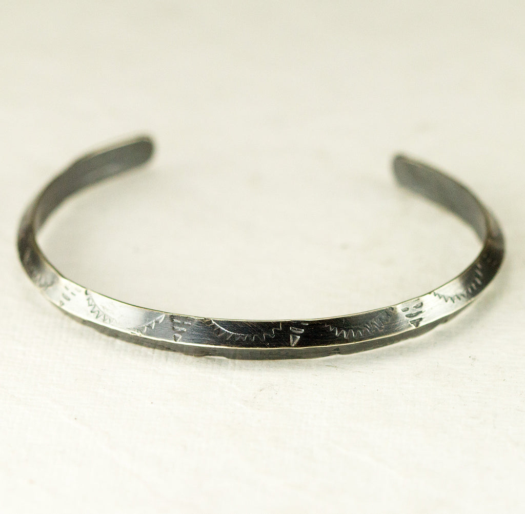 Triangle Wire Stamped Cuff