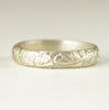 Sterling Flower Pattern Band