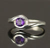 Sterling Amethyst Twist Ring