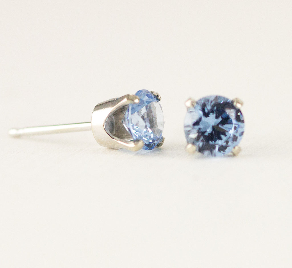 marine gold ct stud ebay aquamarine itm aqua in earrings