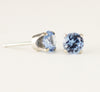 14k White Gold Aquamarine Post Earrings