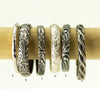 Sterling Stacking Rings - 5mm Birthstone Stack Rings - Silver Stackable Rings
